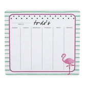 Flamingo To-Do List Mouse Pad and Notepad, 8 1/2 x 7 1/2 inches, 60 Sheets