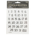 the Paper Studio, Handwritten Calendar Date Stickers, 64 Stickers