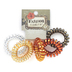 Fashion Tid Bits, Coil Hair Ties, Plastic, Metallic Colors, Set of 5