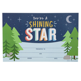 Renewing Minds, You're A Shining Star Certificate, 8.5 x 5.5 Inches, Multi-Colored, Pack of 30