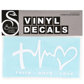 Swanson, Faith Hope Love Decal, 6 1/2 x 3 1/2 Inches