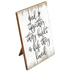 Together They Built A Life Tabletop Plaque, MDF, White & Brown, 3 1/2 x 6 x 7 3/4 inches