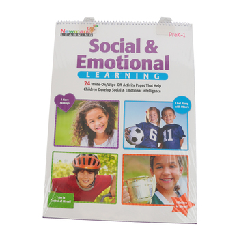 Newmark Learning, Social & Emotional Learning Flip Chart, Write-On/Wipe-Off, Spiral, 24 Pages, Grades PreK-1