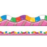 Eureka, Extra Wide Scalloped Border Trim, 37 Feet, Candyland