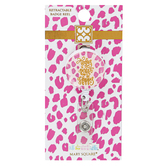 Mary Square, Be Happy Retractable Badge Reel, Pink Leopard,1 1/4 Inches