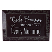 Dexsa, Gods Promises Are New Every Morning Tabletop Plaque, Glass, 6 x 4 inches