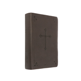 NIV Compact Bible with Cross Emblem, Imitation Leather, Brown