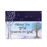 Christian Art Gifts, When You Lose Someone You Love, Cards To Color and Share, 44 Cards