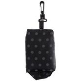 Polka Dot Tote Bag, Black & Gray, 15 x 16 1/4 inches