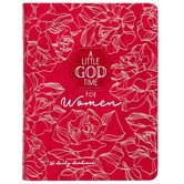 A Little God Time for Women: 365 Daily Devotional, by BroadStreet, Imitation Leather, Red