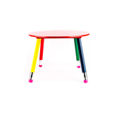 Mardel, Child's Pencil Table, 23.5 x 23.5 x 16 Inches, Primary Colors, 1 Table