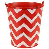Isabella Collection, Large Bucket, Red Chevron, 8 x 5.75 Inches