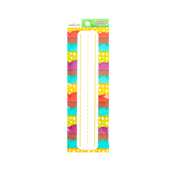 Woodland Tails Collection, Nameplates, 9.25 x 2.5 Inches, Multi-Colored, 36 Count