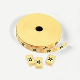 Fun Express, Single Roll Tickets,1 x 2 Inches, Yellow with Star, 2000 Roll