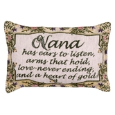 Simply Home, Nana Heart of Gold Small Throw Pillow, 7 1/4 x 12 inches