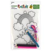 Playside Creations, Rainbow Shrink Charms, 4 x 6 Inches, Pack of 4