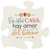 P. Graham Dunn, In This House There Is Love Spanish Puzzle Piece Wall Plaque, Wood, 12 x 12 x 1/2 inches