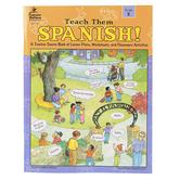 Carson-Dellosa, Teach Them Spanish Workbook, Reproducible Paperback, 96 Pages, Grade K