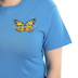 Cherished Girl, Romans 12:2 Transformed Butterfly, Women's Short Sleeved T-Shirt, Pacific Blue, Small