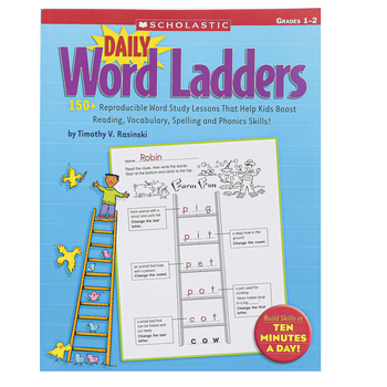 Scholastic, Daily Word Ladders: Grades 1-2: 150+ Reproducible Word Study Lessons, 176 Pages, Grades 1-2