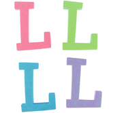 Glitter Foam Alphabet Letter Upper Case - L, 4 x 5.5 x .50 Inches, 1 Each, Assorted Colors