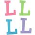 Glitter Foam Alphabet Letter Upper Case - L, 4 x 5.5 x .50 Inches, 1 Each, Assorted Colors