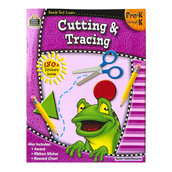 Ready-Set-Learn Activity Book: Cutting and Tracing, 64 Pages, Grades PreK-K