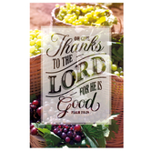 Salt & Light, Oh Give Thanks To The Lord Church Bulletins, 8 1/2 x 11 inches Flat, 100 Count