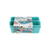 Starplast, Flex Bins Set, Turquoise, 6.75 x 10.50 x 2.57 Inches, 7 Pieces