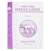 Memoria Press, Henle Latin First Year Quizzes and Tests for Units 1-4, Paperback, Grades 8-10