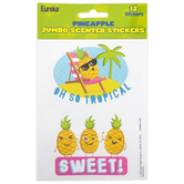 Eureka, Pineapple Scented Jumbo Stickers, 3 Inches, Pack of 12