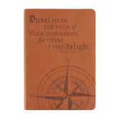 SoulScripts, Direct Me Compass Rose, Flexcover Journal, Brown, 6 x 8 1/2 inches, 360 pages