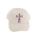 K&B Trading, Floral Cross, Adjustable Distressed Cap, Cream