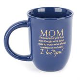 Dexsa, Mom Assured Of Your Love Coffee Mug, Ceramic, Blue & Gold, 14 ounces
