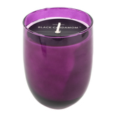 Blackberry Cardamom Jar Candle, Glass, Magenta, 16 ounces, 5 x 3 3/4 inches
