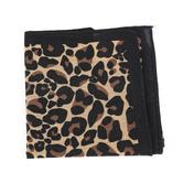 Fashion Bandana, Leopard Print, Cotton, 22 x 22 Inches, 1 Piece