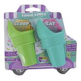 Talisman Designs, Kiddie Kones Ice Cream Scoops, 2-in-1, Set of 4 Colors