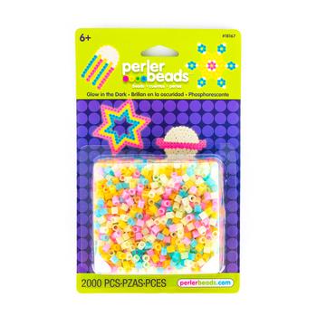 Perler, Fuse Beads, Assorted Pastel Glow-in-the-Dark, 2000 Count