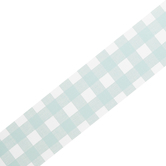 Farmhouse Lane Collection, Border Trim, 38 Feet, Gingham Print, Teal and White