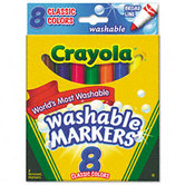 Crayola Classic Washable Broad Line Markers, Assorted Colors, 8 Count