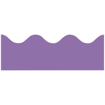 Renewing Minds, Scalloped Border Trim, 38 Feet, Purple