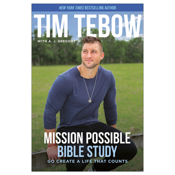 Pre-buy, Mission Possible Bible Study: Go Create a Life the Counts, by Tim Tebow & A. J. Gregory, Paperback