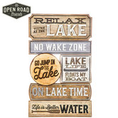 Open Road Brands, At the Lake Wall Plaque, MDF Wood, 11 x 18 1/4 x 3/8 inches