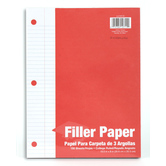 Filler Paper, College Ruled, 3-hole punched, 150 Sheets
