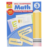 Evan-Moor, Skill Sharpeners Math Activity Book, Paperback, 144 Pages, Grade 3