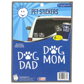 Enjoy It LLC, Dog Dad and Dog Mom Paw Pet Stickers, Vinyl, White