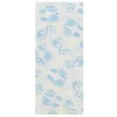 Brother Sister Design Studio, Tissue Paper, Blue Baby Hand & Feet Prints, 20 x 20 inches, 8 Sheets