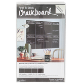 Wallies, Peel and Stick Chalkboard with Chalk, 9 x 12 Inches, 4 Sheets