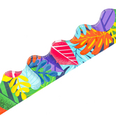Carson-Dellosa, One World Colorful Leaves Scalloped Borders, Trimmer, 39 Feet