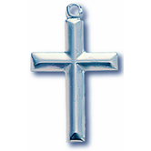 H.J. Sherman, Beveled Cross Pendant Necklace, Sterling Silver, 18 Inches